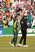 Pakistan batsman Shahid Afridi celebrates winning the ICC World Twenty20 Cup Final against Sri Lanka at Lord's. Photo © Graham Morris (Tel: +44(0)20 8969 4192 Email: sales@cricketpix.com)