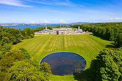 Aerial view of Hopetoun House, South Queensferry, West Lothian,Scotland, UK