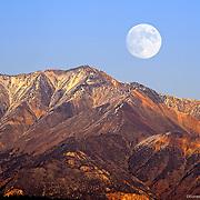 Full Moon Rise over White Mountains, California