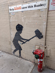 """""""Help Zabar's save this Banksy"""" on the Upper West Side New York CIty 20 October 2018"""