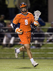 Virginia Cavaliers A/M Danny Glading (9) in action UNC.  The Virginia Cavaliers Men's Lacrosse Team defeated the North Carolina Tar Heels 10-9 in overtime at Klockner Stadium in Charlottesville, VA on April 7, 2007.