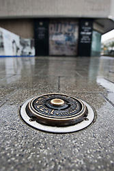 Plaque on the ground where the the assassination of Yitzhak Rabin took place. Train & Travel is a unique ten day program designed for IKMF's instructors, students & guests, interested in combining Krav Maga training with a tour of the holy land..©2011 Michael Schofield. All Rights Reserved.