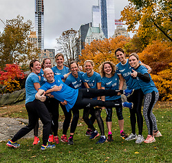 03-11-2018 USA: NYC Marathon We Run 2 Change Diabetes day 2, New York<br /> day before the marathon the usual photo shoot in Central Park / The girls with Guido