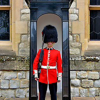 Crown Jewel House Sentry at Tower of London in London, England<br />