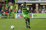 Forest Green Rovers Isaiah Osbourne(34) runs forward during the EFL Sky Bet League 2 match between Forest Green Rovers and Accrington Stanley at the New Lawn, Forest Green, United Kingdom on 30 September 2017. Photo by Shane Healey.