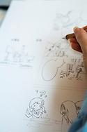 Åsa Ekström tecknar sin seriefigur som gör succé i Japan.