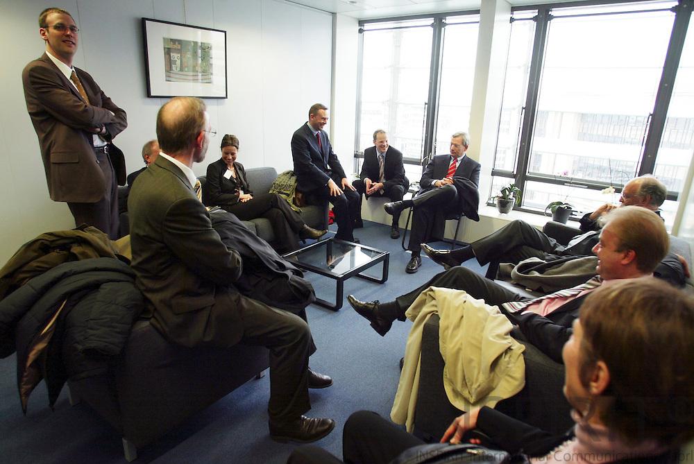 BRUSSELS - BELGIUM - 30 MARCH 2006 -- Landwirtschaftsministers von Nordrhein-Westfalen Herr Eckhard Uhlenberg  treffen mit dem Verbraucherschutzkommissar Markos Kyprianou. PHOTO: ERIK LUNTANG /
