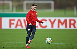 MANCHESTER, ENGLAND - Monday, March 18, 2019: Wales' Harry Wilson during a training session at Manchester United's Trafford Training Centre ahead of an international friendly match against Trinidad and Tobago. (Pic by David Rawcliffe/Propaganda)