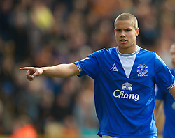 WOLVERHAMPTON, ENGLAND - Saturday, March 27, 2010: Everton's Jack Rodwell in action against Wolverhampton Wanderers during the Premiership match at Molineux. (Photo by David Rawcliffe/Propaganda)