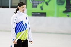 Ana Svetina of Slovenia during European Curling Championship C-division between national team of Slovenia and Lithuania on April 29, 2016 in Ledena dvorana Zalog, Ljubljana, Slovenia. Photo By Urban Urbanc / Sportida