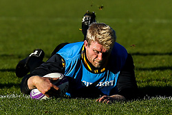 Ben Morris of Wasps during training ahead of the European Challenge Cup fixture against SU Agen - Mandatory by-line: Robbie Stephenson/JMP - 18/11/2019 - RUGBY - Broadstreet Rugby Football Club - Coventry , Warwickshire - Wasps Training Session