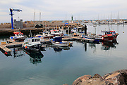 Fishing boats in the harbour, Gran Tarajal, Fuerteventura, Canary Islands, Spain