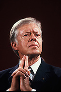 Jimmy Carter at an event in Detroit, Michigan on Octer 13, 1980<br /> <br /> by Dennis Brack