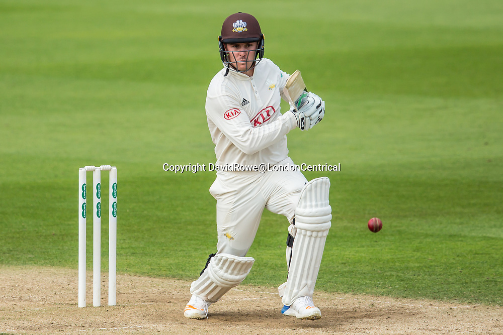 London,UK. 29 August 2017. Jason Roy batting for Surrey against Middlesex at the Oval on day two of the Specsaver County Championship match at the Oval. David Rowe/ Alamy Live News