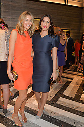 Left to right, KIM HERSOV and JESSICA DE ROTHSCHILD at the opening of Roksanda - the new Mayfair Store for designer Roksanda Ilincic at 9 Mount Street, London on 10th June 2014.