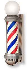barber pole on white background