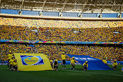 Bandeira da FIFA na partida entre Brasil x Colombia, válida pelas quartas de final da Copa do Mundo 2014, no Estádio Castelão, em Fortaleza-CE. FOTO: Jefferson Bernardes/ Agência Preview