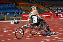 British Open Athletics Championships 2003 games; disabled athlete taking part in a track event,