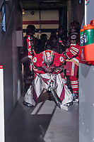 REGINA, SK - MAY 19: Evan Fitzpatrick #31 of Acadie-Bathurst Titan stands in the tunnel before the start of the game against the Swift Current Broncos at the Brandt Centre on May 19, 2018 in Regina, Canada. (Photo by Marissa Baecker/CHL Images)