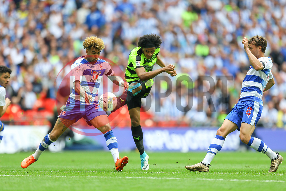 Isaiah Brown of Huddersfield Town shoots - Mandatory by-line: Jason Brown/JMP - 29/05/2017 - FOOTBALL - Wembley Stadium - London, England - Huddersfield Town v Reading - Sky Bet Championship Play-off Final