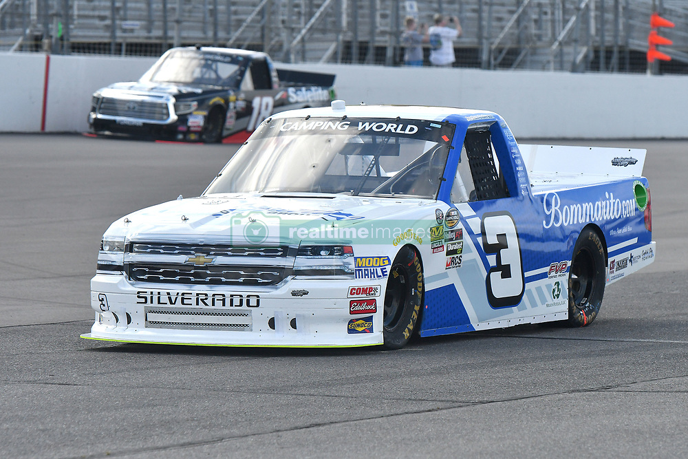 June 22, 2018 - Madison, Illinois, U.S. - MADISON, IL - JUNE 22:  Jordan Anderson (3) driving a Chevrolet for Bommarito Automotive Group warms up before  the Camping World Truck Series - Eaton 200 on June 22, 2018, at Gateway Motorsports Park, Madison, IL.   (Photo by Keith Gillett/Icon Sportswire) (Credit Image: © Keith Gillett/Icon SMI via ZUMA Press)