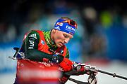 &Ouml;STERSUND, SVERIGE - 2017-12-02: Erik Lesser under herrarnas sprint t&auml;vling under IBU World Cup Skidskytte p&aring; &Ouml;stersunds Skidstadion den 2 december 2017 i &Ouml;stersund, Sverige.<br /> Foto: Johan Axelsson/Ombrello<br /> ***BETALBILD***