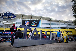August 15, 2018 - Tallinn, Estonia - Sign of Tallinn 2018 seen before UEFA Super Cup..The 2018 UEFA Super Cup was the 43rd edition of the UEFA Super Cup, an annual football match organized by UEFA and contested by the reigning champions of the two main European club competitions, the UEFA Champions League and the UEFA Europa League. It was played at the A. Le Coq Arena in Tallinn, Estonia. (Credit Image: © Hendrik Osula/SOPA Images via ZUMA Wire)