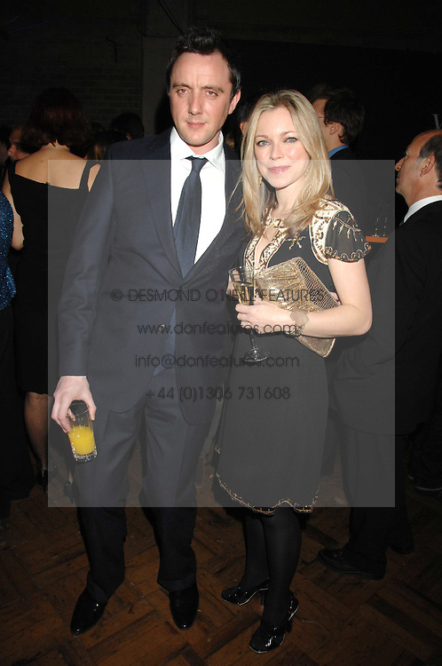 Actor PETER SERAFINOWICZ and actress SARAH ALEXANDER at 'Figures of Speech' a fundraising gala dinner in aid of the ICA held at the Lawrence Hall, Greycoat Street, London on 27th February 2008.<br /><br />NON EXCLUSIVE - WORLD RIGHTS