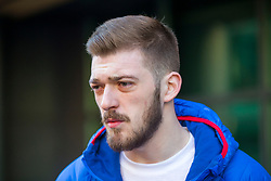 """DATE CORRECTION - IMAGES SHOT TODAY © Licensed to London News Pictures. 07/02/2018. Liverpool, UK. Tom Evans, father of Alfie Evans arrives at Liverpool Civil & Family Court this morning. Tom Evans and Kate James from Liverpool are in dispute with medics looking after their son 19-month-old son Alfie Evans, at Alder Hey Children's Hospital in Liverpool. Alfie is in a """"semi-vegetative state"""" and had a degenerative neurological condition doctors have not definitively diagnosed. Specialists at Alder Hey say continuing life-support treatment is not in Alfie's best interests but the boy's parents want permission to fly their son to a hospital in Rome for possible diagnosis and treatment. Photo credit: Andrew McCaren/LNP"""