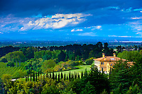 A Tuscan style villa in the Tuki Tuki Hills, near Napier, Hawkes Bay, north island, New Zealand