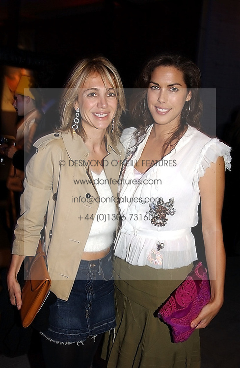 Left to right, SAHAR HASHEMI and JESSICA DE ROTHSCHILD at the launch party for 'The London Look - Fashion From Street to Catwalk' held at the Museum of London, London Wall, Londom EC2 on 28th October 2004<br /><br />NON EXCLUSIVE - WORLD RIGHTS