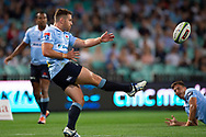 SYDNEY, NSW - MARCH 09: Waratahs player Bernard Foley (10) kicks the ball at round 4 of Super Rugby between NSW Waratahs and Queensland Reds on March 09, 2019 at The Sydney Cricket Ground, NSW. (Photo by Speed Media/Icon Sportswire)