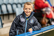 A young Wycombe Wanderers fan before the EFL Sky Bet League 1 match between Rochdale and Wycombe Wanderers at the Crown Oil Arena, Rochdale, England on 28 September 2019.