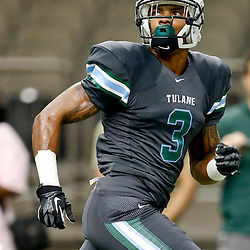 Aug 29, 2013; New Orleans, LA, USA; Tulane Green Wave wide receiver Ryan Grant (3) before a game against the Jackson State Tigers at the Mercedes-Benz Superdome. Mandatory Credit: Derick E. Hingle-USA TODAY Sports