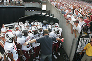 South Carolina football prepare to take the field against Alabama at Williams-Brice Stadium. (Photo by Joe Robbins)