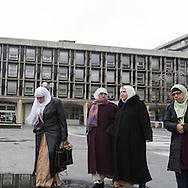 France.  Sarcelles suburb of Paris in Val d Oise , Muslims / Sarcelles, cite ,
