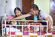 072, Maria Stephanie Rondina, Female, 6 years old, UCL, after with parents in post op, <br /> Isabel United Doctor Medical Centre. Operation Smile's 2015 mission to Cauayan city. Philippines. 14th -21st February 2015.<br /> <br /> (Operation Smile Photo - Zute Lightfoot)