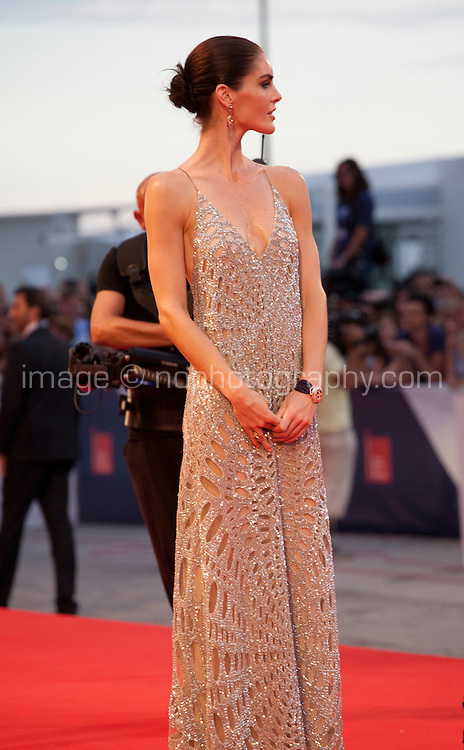 Model Hilary Rhoda at the gala screening for the film Spotlight at the 72nd Venice Film Festival, Thursday September 3rd 2015, Venice Lido, Italy.