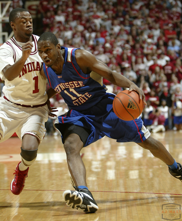 03 December 2007: Tennessee State guard Bruce Price (11) as the Indiana Hoosiers played Tennessee State University Tigers in a college basketball game in Bloomington, Ind.