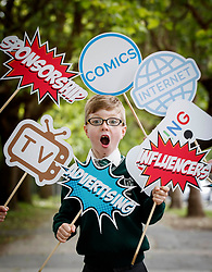 Repro Free: 07/06/2017 Michael O' Neill (7) of St. Vincent de Paul Infant School, Griffith Avenue, Dublin are pictured as safefood launch a new free educational resource to help teach primary schoolchildren about the media, advertising and fake news. The launch was also attended by the Minister for Education and Skills, Richard Bruton T.D.. Picture Andres Poveda<br /> <br /> ENDS<br /> Media contact