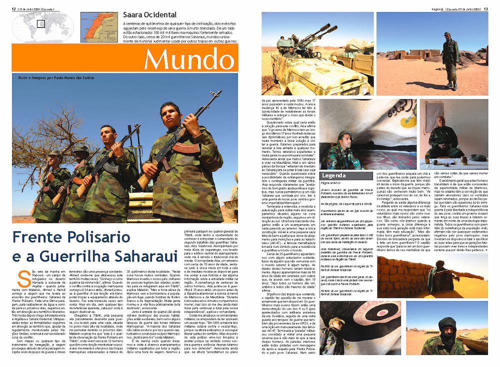 """""""Frente Polisario e a Guerrilha Saharaui"""" in Cipreste"""