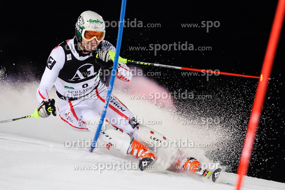 25.01.2011, Planai, Schladming, AUT, FIS World Cup Ski Alpin, Men, Slalom, im Bild // Manfred Pranger (AUT) // during the men night slalom race at the FIS Alpine skiing World cup in Schladming, EXPA Pictures © 2011, PhotoCredit: EXPA/ S. Zangrando