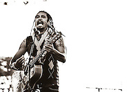 Michael Franti and Spearhead play Power to the Peaceful Festival in Golden Gate Park, in San Francisco, CA.  Copyright Reid McNally 2010.