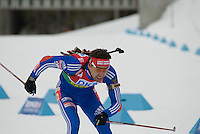 Andrei Makoveev (RUS) competes in the World Cup Biathlon men's Sprint Competition on March 13, 2009