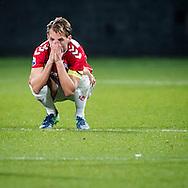 UTRECHT, FC Utrecht - Feyenoord 3-3, voetbal, Eredivisie, seizoen 2016-2017, 27-11-2016, Stadion De Galgenwaard, teleurstelling bij FC Utrecht speler Willem Janssen.