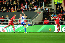 Jamie Murphy of Brighton & Hove Albion scores to make it 2-0 - Mandatory by-line: Dougie Allward/JMP - 05/11/2016 - FOOTBALL - Ashton Gate - Bristol, England - Bristol City v Brighton and Hove Albion - Sky Bet Championship