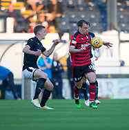 Dundee&rsquo;s Paul McGowan and Raith&rsquo;s Scott Robertson - Raith Rovers v Dundee, Betfred Cup at Starks Park, Kirkcaldy, Photo: David Young<br /> <br />  - &copy; David Young - www.davidyoungphoto.co.uk - email: davidyoungphoto@gmail.com