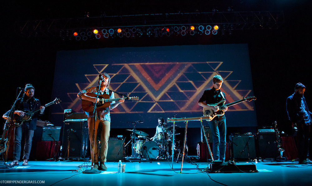 """Fleet Foxes perform in support of """"Helplessness Blues"""" at the Greek Theatre in Los Angeles, CA on Sept. 14 2011"""