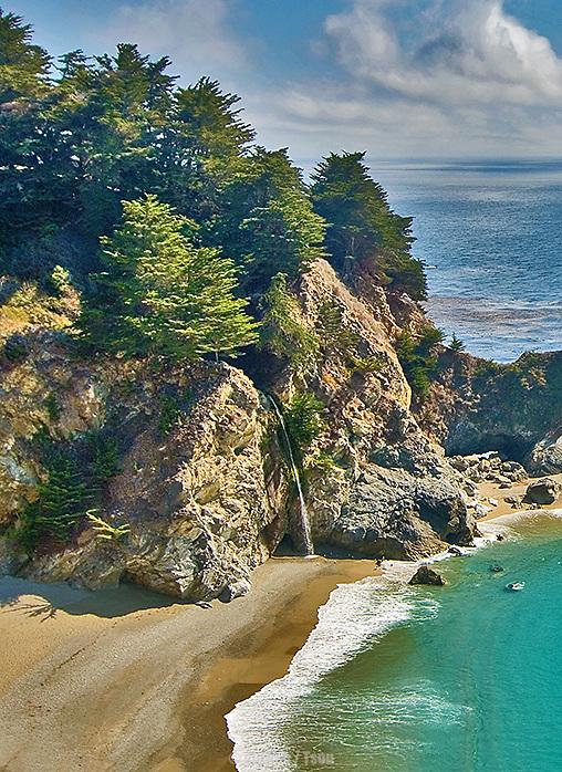 Mc Way Waterfall, Big Sur CA