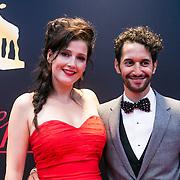 NLD/Utrecht/20130102 - NFF 2013 - premiere Chez Nous, tina de Bruin en Achmed Akkabi
